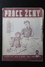 náhled knihy - Práce ženy, časopis pro šití, ruční práce a vedení domácnosti č. 8