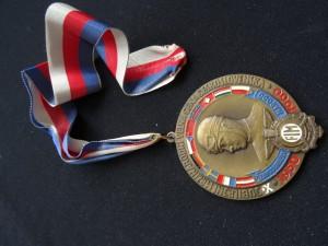 náhled knihy - Medaile jubilejní mezinárodní ceny Československa 1950 - 1960 závod družby národů