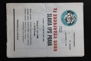 náhled knihy - TJ Zbrojovka Brno - Slavia IPS Praha, 2. Kolo I. ligy kopané 1982 - 1983