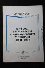náhled knihy - K vývoji knihkupectví a nakladatelství v Čechách do r. 1848