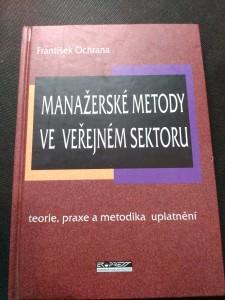 náhled knihy - Manažerské metody ve veřejném sektoru : teorie, praxe a metodika uplatnění