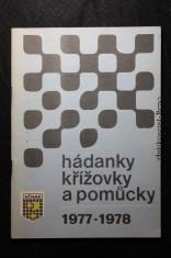 náhled knihy - Hádanky, křížovky a pomůcky 1977 - 1978