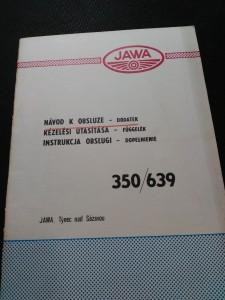 náhled knihy - Návod k obsluze Jawa 350/632 - dodatek