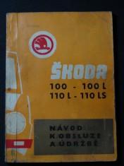 náhled knihy - Návod k obsluze a údržbě ŠKODA 100 - 100L 110 L - 110 LS