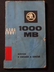 náhled knihy - Návod k obsluze a údržbě ŠKODA 1000MB , 1000MB deluxe