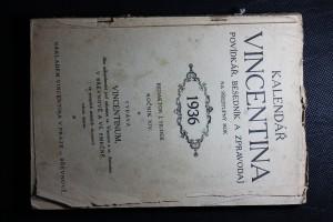 náhled knihy - Kalendář Vincentina. Povídkář, besedník a zpravodaj na přestupný rok 1936