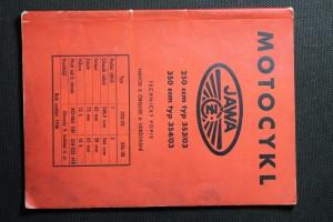náhled knihy - Motocykl Jawa. Technický popis. Návod k obsluze a udržování