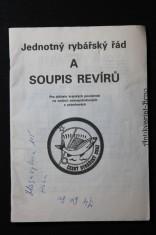 náhled knihy - Jednotný rybářský řád a soupis revírů. Pro držitele krajských povolenek na vodách mimopstruhových a pstruhových