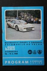 náhled knihy - Program a startovní listina : Mistrovství Evropy v závodech automobilů do vrchu