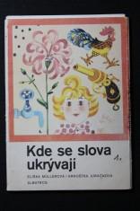 náhled knihy - Kde se slova ukrývají : Obrázkové kartičky : Pro předškolní věk