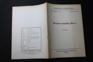 náhled knihy - Snímková technika filmu : Určeno pro posl. fak. filmové a televizní. 1. [díl]