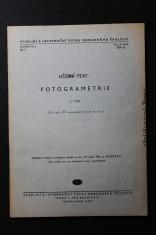 náhled knihy - Fotogrametrie : učební text pro 3. roč. prům. školy zeměměř. čtyřleté. 1. část