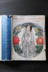 náhled knihy - Moravské národní písně s nápěvy do textu vřaděným