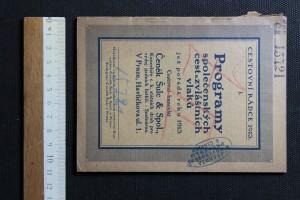 náhled knihy - Programy společenských cest a zvláštních vlaků jež pořádá roku 1913 cestovní  kancelář Čeněk Šulc&Spol.