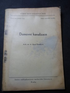 náhled knihy - Domovní kanalizace : Určeno pro posluchače fak. inž. stavitelství