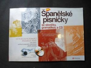 náhled knihy - Španělské písničky : se slovíčky, gramatikou a CD : učte se jazyk pomocí známých písní!