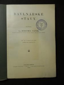 náhled knihy - Bavlnářské stavy : Tabulky