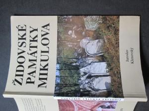 náhled knihy - Židovské památky Mikulova