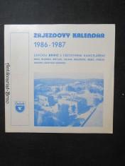 náhled knihy - Zájezdový kalendář (1986 - 1987)