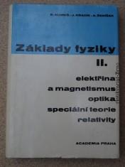 náhled knihy - Základy Fyziky II. elektřina a magnetismus, optika speciální teorie relativity
