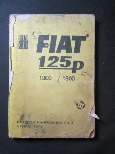náhled knihy - Katalog náhradních dílů Fiat 125p, 1300, 1500