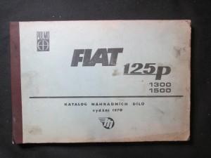 náhled knihy - Fiat 125p, 1300, 1500. Katalog náhradních dílů