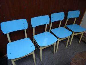 náhled knihy - Židle 4ks modrá - Československo