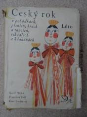 náhled knihy - Český rok v pohádkách, písních, hrách a tancích, říkadlech a hádankách. Léto