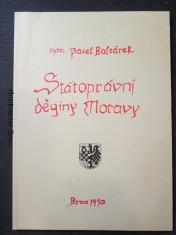náhled knihy - Státoprávní dějiny Moravy