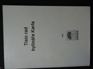 náhled knihy - Tisíc rad bylináře Karla