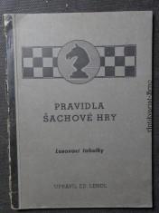 náhled knihy - Pravidla šachové hry - losovací tabulky