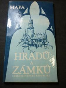 náhled knihy - mapa hradů a zámků republiky československé