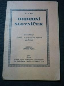 náhled knihy - hudební slovníček