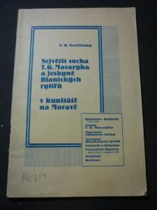 náhled knihy - největší socha T.G.Masaryka a jeskyně Blanických rytířů v Kunštátě na Moravě