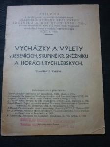 náhled knihy - vycházky a výlety v Jesenících,skupině kr. Sněžníku a horách Rychlebských
