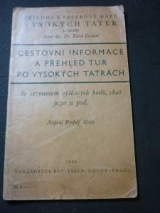 náhled knihy - cestovní informace a přehled tur po Vysokých Tatrách