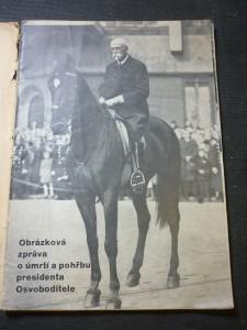 náhled knihy - obrazová zpráva o úmrtí a pohřbu presidenta Osvoboditele