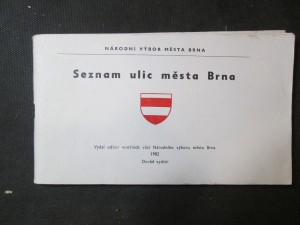 náhled knihy - Seznam ulic města Brna