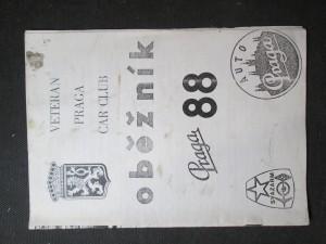 náhled knihy - Veteran Praga car club. Oběžník 88