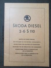 náhled knihy - Škoda diesel 2- 6 S110. Návod na stavbu základu