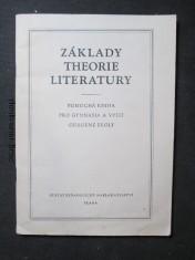 náhled knihy - Základy theorie literatury : Pomocná kniha pro gymn. a vyš. odb. školy