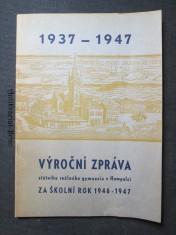 náhled knihy - Výroční zpráva státního reálného gymnasia v Humpolci za školní rok 1946 - 1947