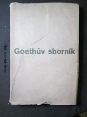 náhled knihy - Goethův sborník : památce 100. výročí básníkovy smrti