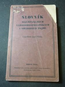 náhled knihy - Slovník nejužívanějších národohospodářských a obchodních pojmů