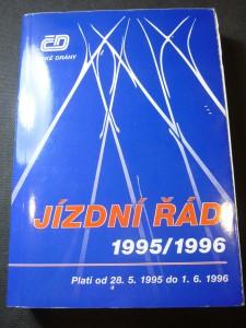 náhled knihy - jízdní řád 1995/1996