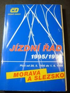 náhled knihy - jízdní řády 195/1996 Morava a Slezsko