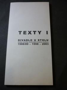 náhled knihy - texty I: divadlo u stolu