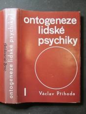 náhled knihy - Ontogeneze lidské psychiky I. díl
