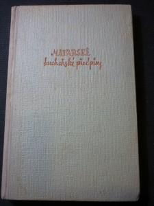 náhled knihy - Maďarské kuchařské předpisy