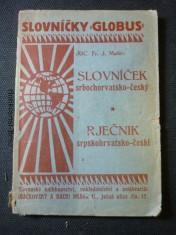 náhled knihy - slovníček globus srbochorvatsko-český